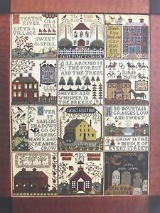 Village Of Hawk Run Hollow Cross Stitch Pattern Chart Carriage House Samplings    eBay