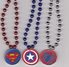 Superhero Birthday Party Favor Necklaces Set of by Oseweverything, $12.00