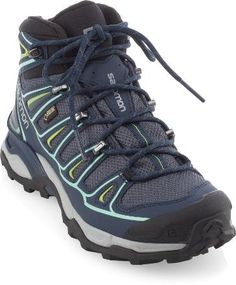 LOVED THE SHOES!!!! Got This: Over-the-ankle Lace-up Suede leather/nylon Waterproof breathable membrane/polyester Thermoplastic urethane plate Rubber blend weight pair1lb.10 oz. Gore-Tex® hiking shoes bring running-shoe comfort to your on- and off-trail adventures with a women-specific, mid-cut design for confidence-inspiring performance and stability.GREY DENIM/DEEP BLUE/LUCI