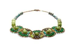 Green Jade Beaded Gemstone Necklace handcrafted in Italy by Ziio. Make it yours today at TreborStyle.com