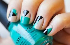 Diseños de uñas con cinta, diseño para pintar uñas con cinta…