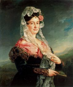 1833 Dolores Gómez de las Casas de Tirel, Marquesa de la Ulagares by Vicente López y Portaña (private collection) | Grand Ladies | gogm