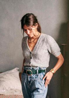 Jumper, Wool Cardigan, Artemis, Bcbg, Mode Vintage, Parisian Style, Navy And White, Blue Denim, Knitwear