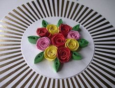 Handmade quilled birthday card