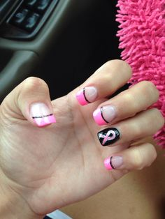 T Cancer Nails I Got Done For The Race Cure In Honor Of My Mom