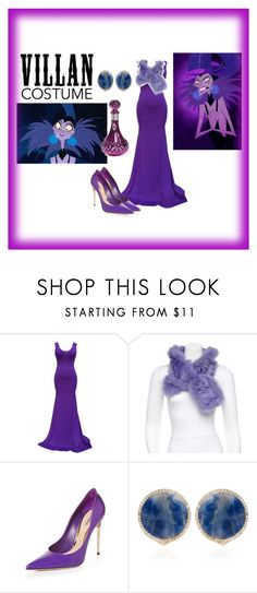"""""""60-Second Style: Villain Costume -- Yzma"""" by pink-wednesdays ❤ liked on Polyvore featuring Etro, Sebastian Professional, Bochic, Halloween, 60secondstyle and villaincostume"""