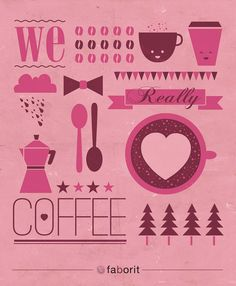 "Faborit Coffee ilustration by Ondho ""We really love coffee"" 