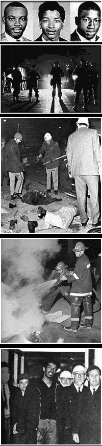 The Orangeburg massacre is the most common name given to an incident on February 8, 1968, in which nine South Carolina Highway Patrol officers in Orangeburg, South Carolina, fired into a crowd of protesters demonstrating against segregation at a bowling alley near the campus of South Carolina State College, a historically black college. Three men were killed and twenty-eight persons were injured; most victims were shot in the back.