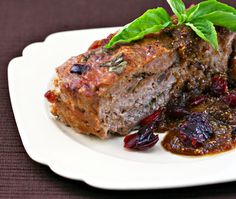 Turkey meatloaf with fig gravy, from The Perfect Pantry