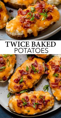 Twice Baked Potatoes - these are one of the ultimate side dish recipes! They& seriously comforting, extra cheesy, deliciously creamy, mashed potato loaded, hearty stuffed potato skins and they never disappoint! A family favorite recipe! Side Dishes For Ribs, Burger Side Dishes, Side Dishes For Salmon, Potato Side Dishes, Baked Potato Recipes, Twice Baked Potatoe Recipe, Potato Stuffing Recipes, Twice Baked Potato Casserole, Recipes With Potatoes