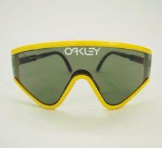 4601f60d31e Vtg OAKLEY Yellow M Frame Glasses Ski Bike Goggles Sunglasses  Oakley
