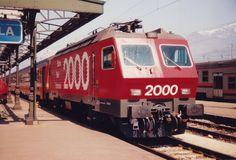 """Schweizerische Bundesbahnen (SBB) / Chemins de fer fédéraux suisses (CFF) / Ferrovie Federali Svizzere (FFS), Re 4/4 IV 10103 """"Luino"""", Domodossola (Italia), 1987"""