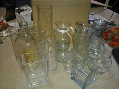 20 Vases - Various Sizes & Shapes