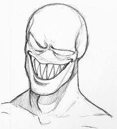 Creepy Drawings, Dark Art Drawings, Pencil Art Drawings, Art Drawings Sketches, Cool Drawings, Horror Drawing, Graffiti Drawing, Arte Horror, Horror Art