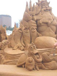 Hermosa escultura de arena