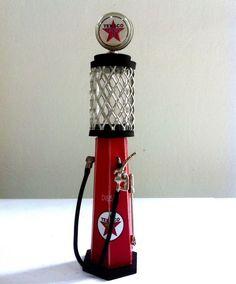 Miniaturas Bomba de Gasolina - modelo 8 - Texaco Vermelha - Versare Anos Dourados - A13  x L 2,5 - R$ 57,50