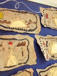 Colorful Art Palette: Week 13 Native American Indian Art and More.The Colorful Art Palette: Week 13 Native American Indian Art and More. Native American Lessons, Native American Projects, Native American Art, American Indians, American History, Art 2nd Grade, Grade 3, Art Indien, Classe D'art