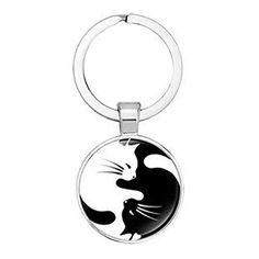 Schlüsselanhänger Yin Yang Katze Dreambase Yin Yang, Personalized Items, Cat, White Cats, Small Trailer, Gifts For Couples, Suitcase, Bags, Cat Breeds
