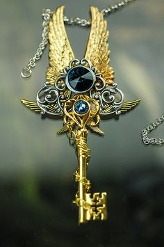 Mixed Chains of the Demiurge Key Necklace by KeypersCove on Etsy, $75.00