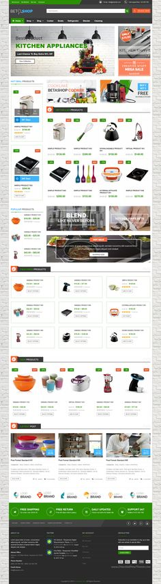 VG BetaShop is an perfect #WordPress WooCommerce #Theme for multipurpose Kitchen Appliances #eCommerce website with 6 homepage layouts & 4 Preset color download now➯ https://themeforest.net/item/vg-betashop-kitchen-appliances-woocommerce-theme/16551841?ref=Datasata