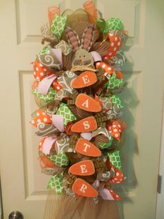 SALE Easter Wreath Easter swag Easter wreaths Easter Swags