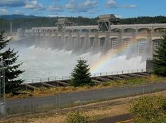 Bonneville Lock & Dam. Location: Located in the Columbia Gorge National Scenic Area 40 miles east of Portland, Oregon, and Vancouver, Washington. From Portland, OR, 40 miles E on I-84. From Vancouver, WA, 40 miles E on WA 14.