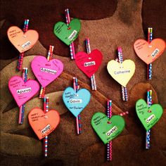 after much research i settled on these cute pencils with heart shaped valentine