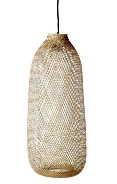 Loftslampe i bambusflet Ø24 cm - Gratis fragt