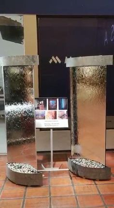 Studio Desing, Indoor Waterfall Wall, Fountain Ideas, Water Walls, Miniature Gardens, Water Treatment, Convention Centre, Water Features, Decoration