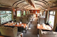 It coaches involve you in an environment  exquisitely decorated with the elegant style of pullman trains of the 20's.