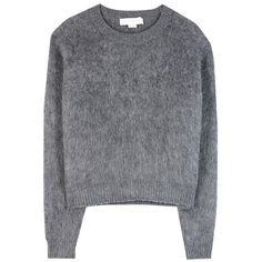 Stella McCartney Wool-Blend Sweater (£305) ❤ liked on Polyvore featuring tops, sweaters, jumpers, shirts, grey, gray shirt, stella mccartney sweater, grey sweater, gray top and stella mccartney top