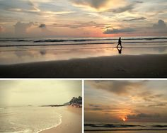 We posed at Morjim, Goa with the setting sun on an empty beach to truly embrace our solitude