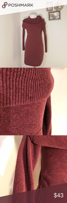 athleta dorset sweater dress Great used condition! Beautiful Oversized ribbed cowl neck sweater dress. Ribbed sleeves. Soft sweater fabric. Hits just above knee. Ribbed dolman sleeves, ruched sides are fit to flatter everyone Thumbholes keep sleeves in place  FABRIC + CARE 92% Organic Cotton/ 8% Wool Machine wash and dry. Imported. Athleta Dresses Long Sleeve