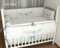 Kit berço Varal azul 7 Peças - Iroma Baby