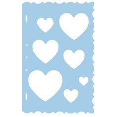 Foto sjabloon hartjes. Sjabloon voor individuele vormen. Ideaal voor fotos, kaarten en papier. Formaat: ongeveer 20 x 30 cm. Het transparante materiaal maakt het mogelijk het gewenste fotoformaat exact te bepalen.
