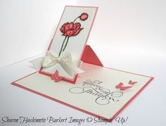 One flap easel card - measurements and directions in the post.