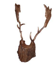 #Bronze Abstract Contemporary or Modern Outdoor Outside Exterior Garden / Yard Sculptures Statues statuary #sculpture by #sculptor Fanny Lam Christie titled: 'The Trophy (abstract Male Deer Head sculpture)'. #art #artist #artwork #FannyLamChristie