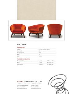 Anees Upholstery Catalog Page Sample