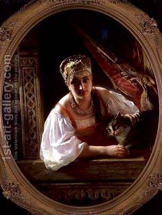 Konstantin Egorovich Egorovich Makovsky:Russian Beauty, 1865