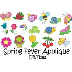 Spring Applique Machine Embroidery Designs | Designs by JuJu