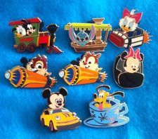 disney  pin sets | DISNEY Pin lot/set CHARACTERS ON ATTRACTIONS PWP STITCH MICKEY HAUNTED ...