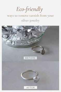 Cleaning your jewelry at home using natural ingredients is easy to do with a few things you probably already have in your pantry. This tutorial will show you how to clean jewelry naturally in minutes! Eco-friendly, chemical free, easy and effective ways to restore the shine to gold jewellery and remove tarnish from silver jewellery.