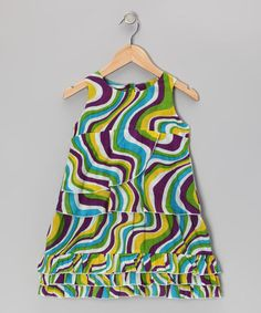 Take a look at this Lime Swirl Swing Dress - Toddler & Girls by Yo Baby on #zulily today!