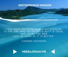 """"""" The most successful businessperson is one who..."""