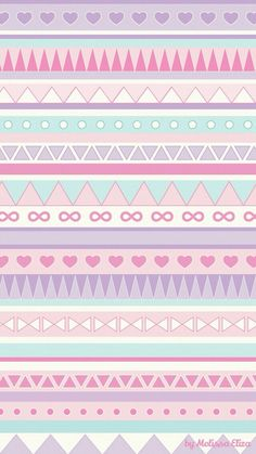 Image shared by ♡Ashley Nicole♡. Find images and videos about pink, wallpaper and pastel on We Heart It - the app to get lost in what you love. Tribal Wallpaper, Pastel Iphone Wallpaper, Iphone Background Wallpaper, Pink Iphone, Kawaii Wallpaper, Tumblr Wallpaper, Cellphone Wallpaper, Cool Wallpaper, Pattern Wallpaper