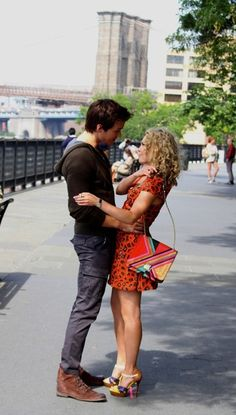 Chris Wood and AnnaSophia Robb seen holding hands as they film a scene on the set of the tv series 'The Carrie Diaries' at the Brooklyn Promenade in Brooklyn heights.