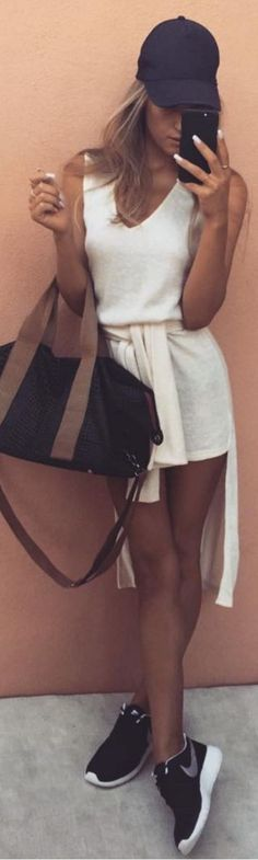 L U X E gear by my absolute all time faves , those ladies know my style   White Tee Dress  Stacey Tonkes #gear
