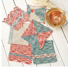 Color Block Knit Dishcloth Patterns