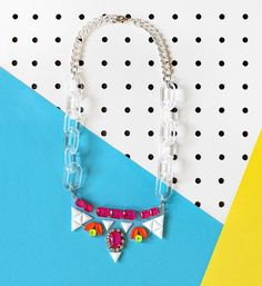 DIY Necklace  : DIY  Clearly Gem Necklace