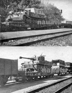 Rail transport of Tiger 1 and Ferdinand tanks on the move during the fateful build up leading to the Battle of Kursk fought during July 5th to August 23rd 1943